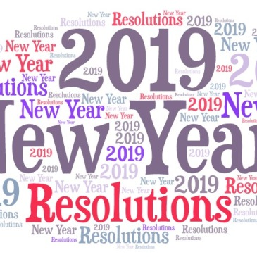New year Resolution word art