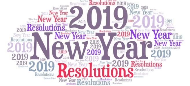 New year Resolution word art