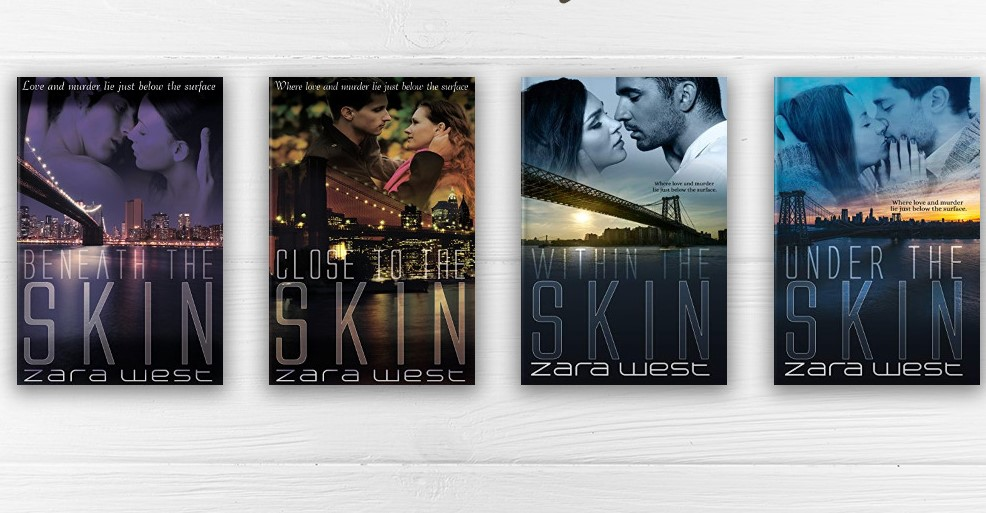 The Skin Quarte romantic thriller series by Zara West
